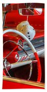 Classic Cadillac Beauty In Red Bath Towel