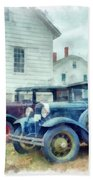Classic Ford Model A Cars Hand Towel