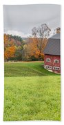 Classic New England Fall Farm Scene Bath Towel