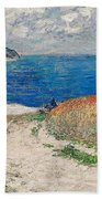 Claude Monet's Path In The Wheat Fields At Pourville-1882 Bath Towel