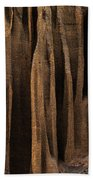 Clay Organ Pipes Formation In Front Bath Towel