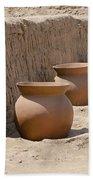 Clay Pots At Huaca Pucllana In Lima Peru Bath Towel