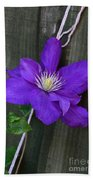Clematis On A String Hand Towel