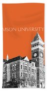 Clemson University - Coral Bath Towel