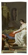 Cleopatra And Octavian Bath Towel