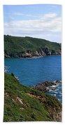 Cliffs On Isle Of Guernsey Bath Towel