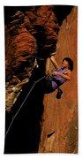 Climber, Red Rocks, Nv Bath Towel
