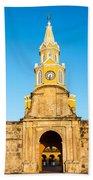 Clock Tower Gate Bath Towel