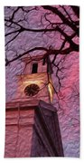 Clock Tower Bath Towel