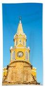 Clock Tower Of Cartagena Bath Towel
