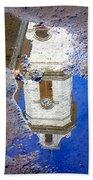 Clock Tower Reflected Bath Towel