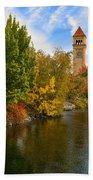 Clocktower In Fall Bath Towel