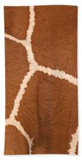 Close-up Of A Reticulated Giraffe Bath Towel