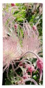 Close-up Of The Prairie Smoke Wildflower Bath Towel