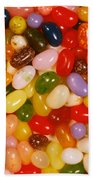 Closeup Of Assorted Jellybeans  Bath Towel