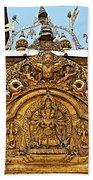 Closeup Of Carving Over Door In Bhaktapur Durbar Square In Bhaktapur-nepal Bath Towel