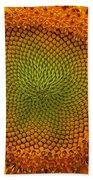 Closeup Of Sunflower Bath Towel