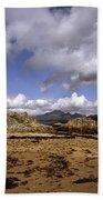 Cloud Passing Across The Cuillin Main Ridge And Bla Bheinn From Tokavaig Sleat Isle Of Skye Scotland Bath Towel