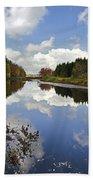 Autumn Lake Reflection Landscape Bath Towel