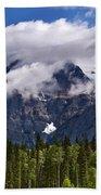 Clouds Around Mountains, Robson Bath Towel