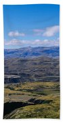 Clouds Over A Mountain Range, Torres Bath Towel