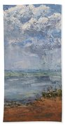Clouds Over Lake Michigan Bath Towel