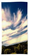 Clouds Over The Mountains Bath Towel