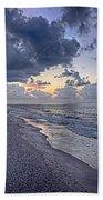 Cloudy Sunrise Over Orange Beach Bath Towel