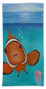 Clown Fish And Friends Bath Towel