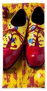 Clown Shoes And Balls Bath Towel