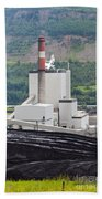 Coal Mine Electrical Energy Power Plant In Nature Bath Towel