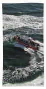 Coast Guard Ship - Port Of Los Angeles Bath Towel
