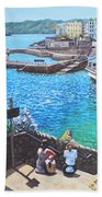 Coast Of Plymouth City Uk Bath Towel