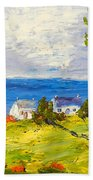 Coastal Fishing Village Bath Towel