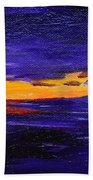 Coastal Sunset Bath Towel