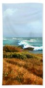 Coastal Waves Roll In To Shore Bath Towel