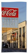 Coca Cola Billboard - San Francisco, California Usa Bath Towel