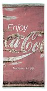 Coca Cola Pastel Grunge Sign Hand Towel