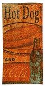 Coca Cola Rusty Sign Bath Towel
