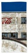 Coca Cola Sign On Old Factory Bath Towel