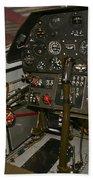 Cockpit Of A P-40e Warhawk Bath Towel