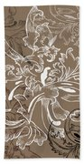 Coffee Flowers 11 Bath Towel