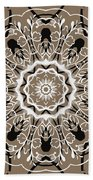 Coffee Flowers 5 Ornate Medallion Bath Towel