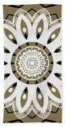 Coffee Flowers 8 Olive Ornate Medallion Bath Towel