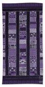 Coin Quilt -quilt Painting - Purple Patches Bath Towel
