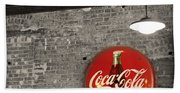 Coke Cola Sign Bath Towel