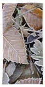 Cold Leaves Bath Towel