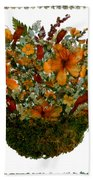 Collage With Wild Flowers Bath Towel
