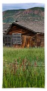 Collapsed Log House In Utah Bath Towel