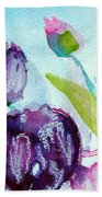 Collecting Pink And Purple Tulips Bath Towel